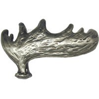 Sierra Lifestyles 681436, Pull, Moose Paddle, Right Face, Pewter, Rustic Lodge Collection