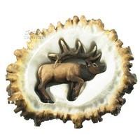 Sierra Lifestyles 681454, Pull, Elk Burr Pull, Elk, Rustic Lodge Collection