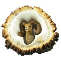Sierra Lifestyles 681462, Pull, Elk Burr Pull, Big Horned Sheep, Rustic Lodge Collection