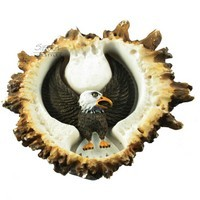 Sierra Lifestyles 681463, Pull, Elk Burr Pull, Eagle Front, Rustic Lodge Collection
