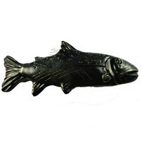 Sierra Lifestyles 681465, Pull, Trout Pull, Bronzed Black, Rustic Lodge Collection