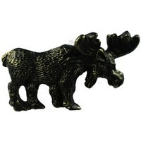 Sierra Lifestyles 681466, Pull, Moose Pull - Bronzed Black, Rustic Lodge Collection