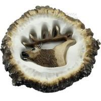 Sierra Lifestyles 681473, Pull, Elk Burr Pull, Calling Elk Head, Rustic Lodge Collection