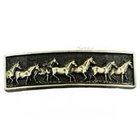 Sierra Lifestyles 681488, Running Horse Pull - Antique Brass, Western Collection
