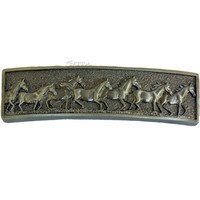 Sierra Lifestyles 681489, Pull, Running Horse Pull, Pewter, Western Collection