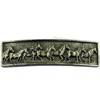 Sierra Lifestyles 681490, Pull, Running Horse Pull - Bronzed Black, Western Collection