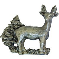 Sierra Lifestyles 681499, Pull, Standing Deer Pull, Pewter, Rustic Lodge Collection
