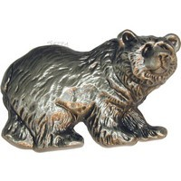 Sierra Lifestyles 681553, Pull, Grizzly Pull, Pewter, Rustic Lodge Collection