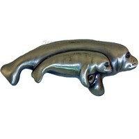 Sierra Lifestyles 681556, Pull, Manatee Pull, Pewter, Coastal Collection