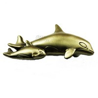 Sierra Lifestyles 681560, Pull, Orca Pull, Antique Brass, Coastal Collection