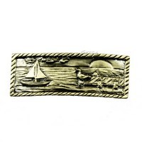 Sierra Lifestyles 681569, Pull, Sail Boat Scene, Antique Brass, Coastal