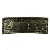 Sierra Lifestyles 681595, Pull, Sail Boat Scene, Bronzed Black, Coastal Collection