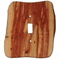 Sierra Lifestyles 682126, Switchplate, Rustic - 1 Toggle - Juniper Plate