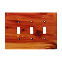 Sierra Lifestyles 682215, Switchplate, Traditional, 3 Toggle, Juniper Plate