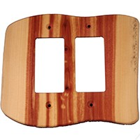 Sierra Lifestyles 682310, Outlet Plate, GFI, Rustic- 2 Decora, Juniper Plate