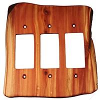 Sierra Lifestyles 682358, Outlet Plate, GFI, Rustic, 3 Decora, Juniper Plate