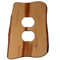 Sierra Lifestyles 682406, Outlet Plate, Standard, Rustic, 1 Duplex, Juniper Plate