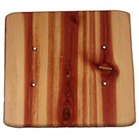 Sierra Lifestyles 682502, Outlet Plate, Standard, Rustic, 2 Blank, Juniper Plate