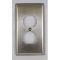 WW Preferred SZBH10-SN, Single Outlet Cover, Satin Nickel, Builders Hardware Collection