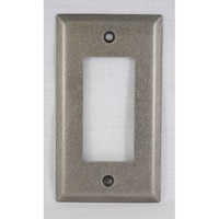 WW Preferred SZBH11-WN, Single Rocker/Decorator Plate, Weathered Nickel, Builders Hardware Collection