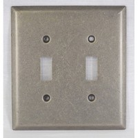 WW Preferred SZBH14-WN, Double Switch Plate, Weathered Nickel, Builders Hardware Collection
