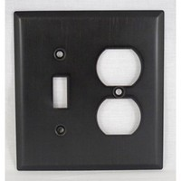 WW Preferred SZBH17-ORB, Combo Switch/Outlet Plate, Oil-Rubbed Bronze, Builders Hardware Collection