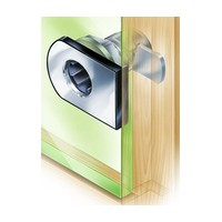 CompX Timberline CB-307 Timberline Lock, Glass Door Lock (up to 3/8 Thick) Cylinder Body Only, Bore Style, Horizontal Mount, Satin Nickel
