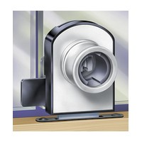 CompX Timberline CB-377 Timberline Lock, Double Glass Door Lock (1/4 - 5/16 Thick) Cylinder Body Only, Non-Bore Style, Vertical Mount, Satin Nickel