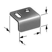 CompX Timberline SP-101-1, Timberline Lock Accessories, Strike Plate for Cam, Deadbolt or Wardrobe locks, Bright Nickel