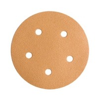 WE Preferred 8507372008961 50 Abrasive Discs, Aluminum Oxide on C-Weight Paper, 5in, 5-Hole, Hook & Loop, 80 Grit