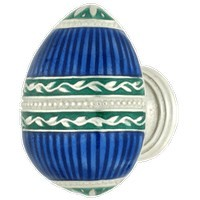 Emenee FAB1000-RS, Knob, Faberge Easter Egg, Royal Silver