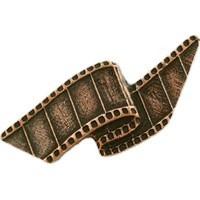 Emenee LU1235POL, Knob, Film Reel, Polished Silver
