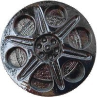 Emenee LU1236AGB, Knob, Film Spool, Aged Brass