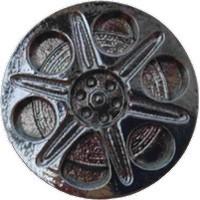 Emenee LU1236POL, Knob, Film Spool, Polished Silver