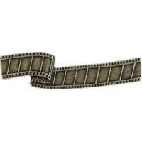 Emenee LU1242WPE, Handle, Film Reel, Warm Pewter