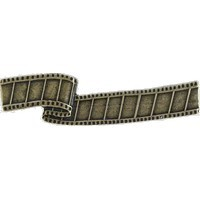 Emenee LU1242AGB, Handle, Film Reel, Aged Brass