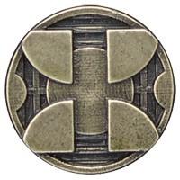 Emenee LU1249WPE, Knob, Mission Circle With Squares, Warm Pewter