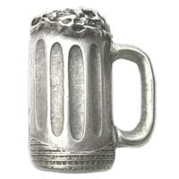 Emenee LU1283POL, Knob, Beer Mug, Polished Silver