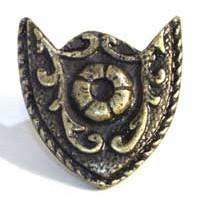 Emenee MK1003ABB, Knob, Crest, Antique Bright Brass