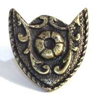 Emenee MK1003ABR, Knob, Crest, Antique Matte Brass