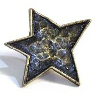 Emenee MK1013ACO, Knob, Star, Antique Matte Copper