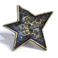 Emenee MK1013ABR, Knob, Star, Antique Matte Brass