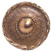 Emenee MK1016ABC, Knob, Rope With Dome, Antique Bright Copper