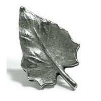Emenee MK1026ABR, Knob, Leaf Shape, Antique Matte Brass