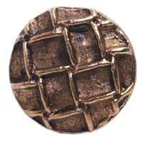 Emenee MK1027ABB, Knob, Round With Net, Antique Bright Brass