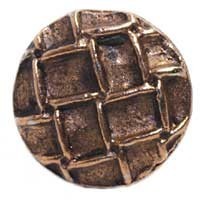 Emenee MK1027ABR, Knob, Round With Net, Antique Matte Brass
