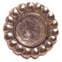 Emenee MK1028ABR, Knob, Flower, Antique Matte Brass