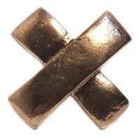 Emenee MK1031ABR, Knob, Cross, Antique Matte Brass