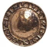 Emenee MK1034ABR, Knob, Center Dome, Antique Matte Brass