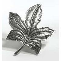 Emenee MK1036AMS, Knob, Maple Leaf, Antique Matte Silver
